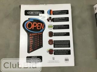 Newon LED Colour Changing Open Sign w/Business Hours