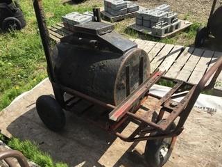 Hot Tar Carrier C/w Cart