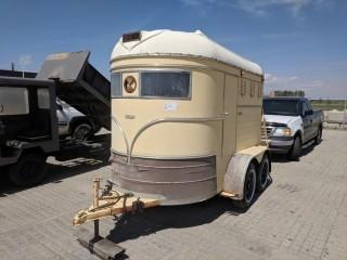 Western King 5'x10' T/A 2 Horse T/A Trailer. Unable To Verify S/N.