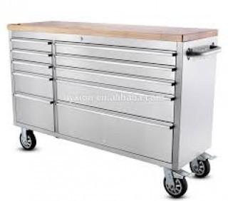 """NEW  55"""" 10 Drawer Stainless Steel Tool Chest HTC5510W"""