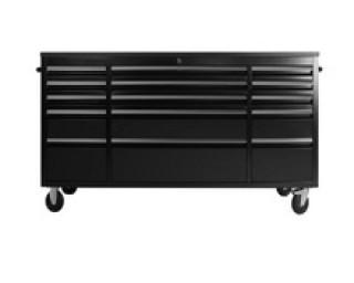 """NEW  72"""" 15 Drawer Powder Coat Steel Tool Chest HTC7215PC"""