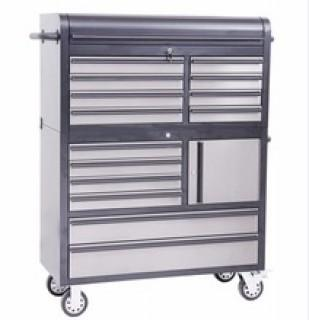 """NEW 2x 41"""" Black Stainless Steel 14 Drawer Combination Tool Chest HTC4114BS"""
