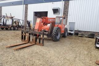 "2012 JLG ""10054"" telehandler. Cummins diesel engine. 400/75-28 Tires. Outriggers. Showing 2,572hrs. SN 0160044236."