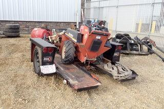 "Ditch Witch ""1820H"" Walk Behind Trencher w/ Single Axle Trailer. Showing 278hrs. SN 111861."