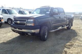 "2007 Chevrolet ""Silverado 2500 HD"" LT Crew Cab 4x4 Pickup Truck. Duramax Diesel Engine. Allison Automatic Transmission. Gooseneck Hitch Receiver. Ball Hitch. Showing 248,710kms. VIN 1GCHK23D47F124738."