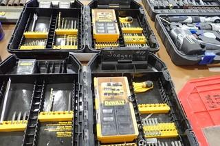 Lot of Asst. DeWalt Drill Bits and Sockets.