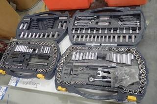 Lot of 2 Partial Mastercraft Socket and Combination Wrench Sets.