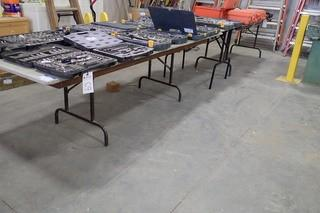 Lot of 3 Folding Tables.