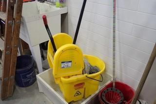 Lot of Mop and Pail.