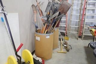 Lot of Asst. Shovels and Rakes.