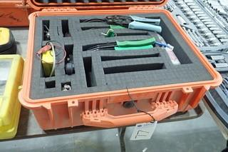 Lot of Progressive Electronics 200FP Filter Probe, Asst. Crimping Tools, Pelican Case, etc.
