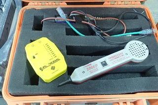 Lot of Sure Signal Monitor, Progressive Electronics 200EP Filter Probe and Pelican Case.