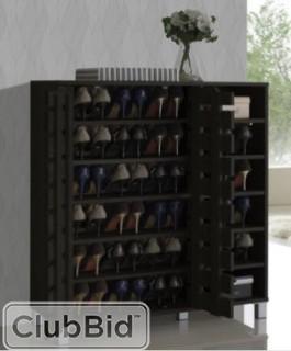 Rebrilliant 24 Pair Shoe Storage Cabinet - Espresso(REBR1597)