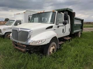 2008 International Durastar Landscape Truck c/w Maxxforce, Auto, Quest 12' x 8' x 4' Dump Box. S/N 1HTMNAAM28H680560 **Parts Only**