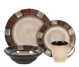 Taos Everyday 16 Piece Dinnerware Set, Service for 4