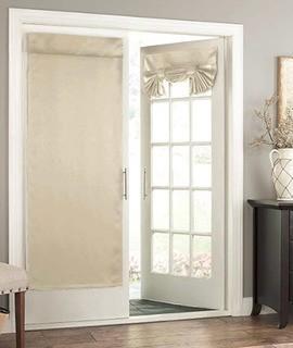 "(2)Cantor Solid Room Darkening Rod Pocket Curtain Panels, Stone 26x68"""