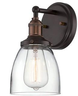 Sandy Springs 1-Light Wall Sconce Rustic Bronze