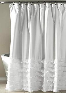 Lafleur Single Shower Curtain, White