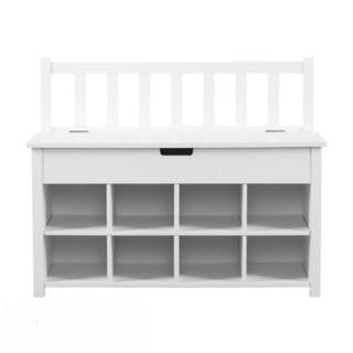 Breakwater Bay Harrow Storage Bench - White (BKWT3355)