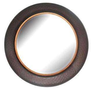 """Emblyn Gunmetal Bowl Wall Mirror 24"""""""