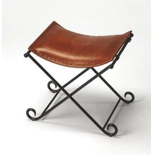 Butler Melton Leather Accent Stool