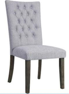 Merel Side Chair in Grey Fabric and Grey Oak Set Of 2