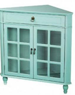 Bungalow Rose Tavera 1 Drawer 2 Door Accent Cabinet  - teal Green(BNRS151820297466)