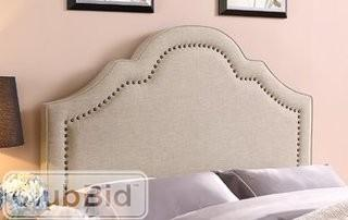 Wildon Home Queen/Full Upholstered Panel Headboard grey beige(CST27065)