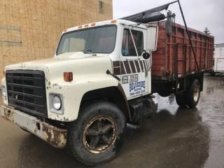 1983 International 1724 S/A Conventional Cab Grain Truck C/w 8Cyl, Manual Transmission, Gas, CVIP, Showing 175,545 Kms. VIN 1HTAA17BODHA23435
