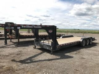 2017 Canada Trailers 21' Triaxle Gooseneck Deck Trailer c/w 7,000 LB Axles, Ramps, 235/80/16 Tires. S/N 2CPUSJ3H9HA030295.