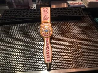 New Castle Brown Ale Tap Handle.