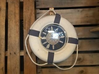 """Life Buoy Clock 13""""."""