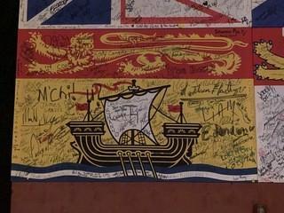 Signed New Brunswick Flag Sign.