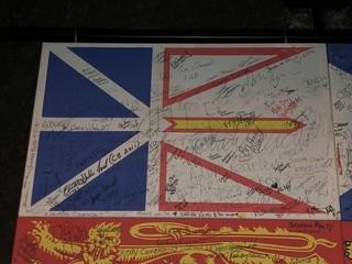 Signed Newfoundland & Labrador Flag.