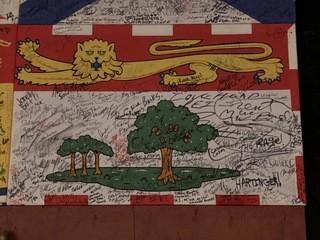 Signed Prince Edward Island Flag.
