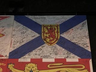 Signed Nova Scotia Flag.
