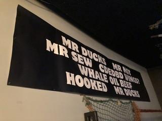 MR Ducks MR Not Banner 3' x 13'.