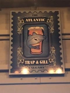 The Atlantic Trap & Gill Sign 4'.