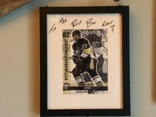 "Signed Sidney Crosby Photo 9"" x 11""."