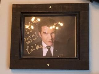 "Signed Rick Mercer Photo 12"" x 14""."