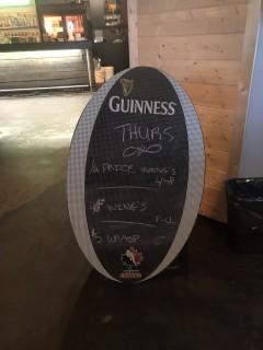 """Guinness Sandwich Chalk Board 42"""" x 26""""."""