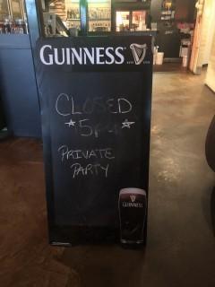 """Guinness Sandwich Chalk Board 48"""" x 24""""."""