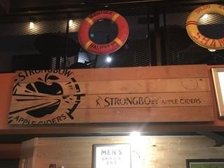 """Strongbow Apple Cider Wooden Sign 78"""" x 23""""."""