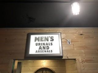 "Light Up Men's Bathroom Sign 27"" x 21""."