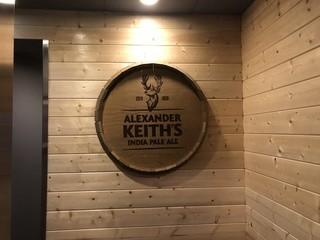 "Alexander Keith's IPA Barrel Top Sign 33""."
