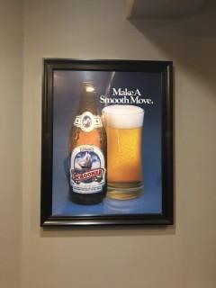 """Schooner Beer Framed Picture 29"""" x 23""""."""