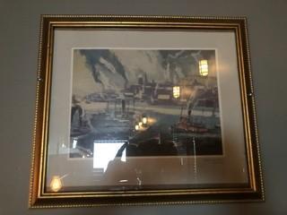 "Halifax Harbour Print 15"" x  13""."