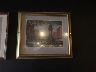 """Framed King Street Print 15"""" x 13""""."""