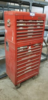 25-Drawer Rolling Tool Box C/w Contents