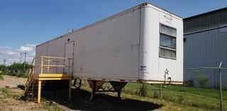 Trailmobile 48ft T/A Shop Van c/w stair case, shelving SN OBL
